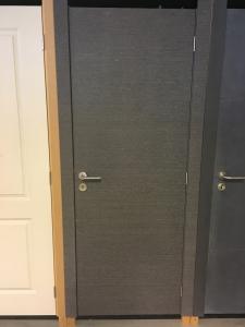 Lot 22 - Kit deur fineer eik antraciet 73, 78 en 83 cm